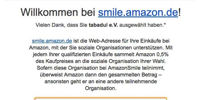 tabadul auf Amazon Smile